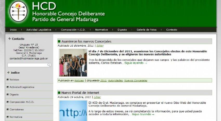 Nuevo Sitio Web del Concejo Deliberante